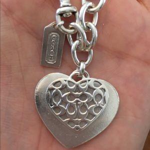 💯 AUTHENTIC Coach Sterling Silver charm bracelet